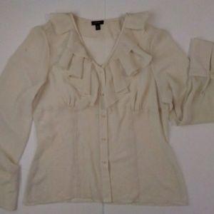 Nine West ruffle blouse